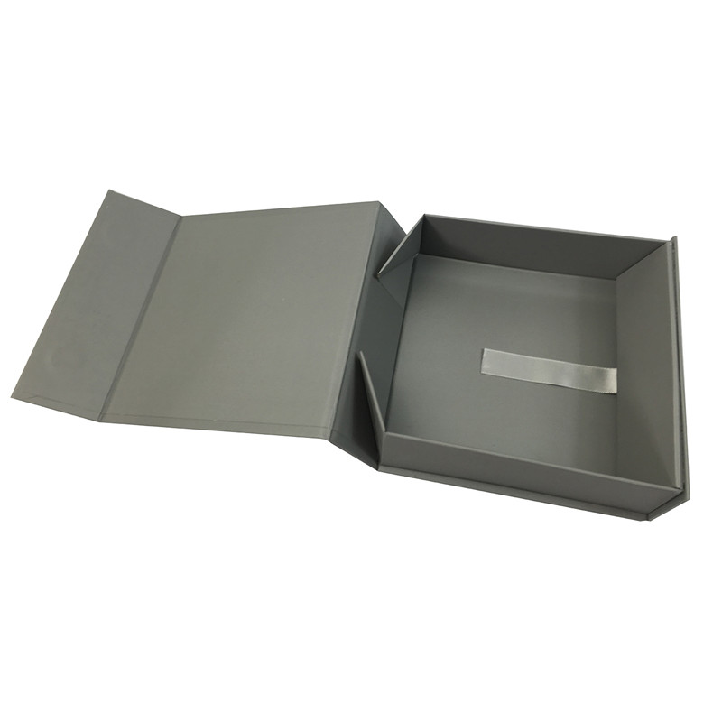 high quality rigid foldable paper box double tape 4 corners