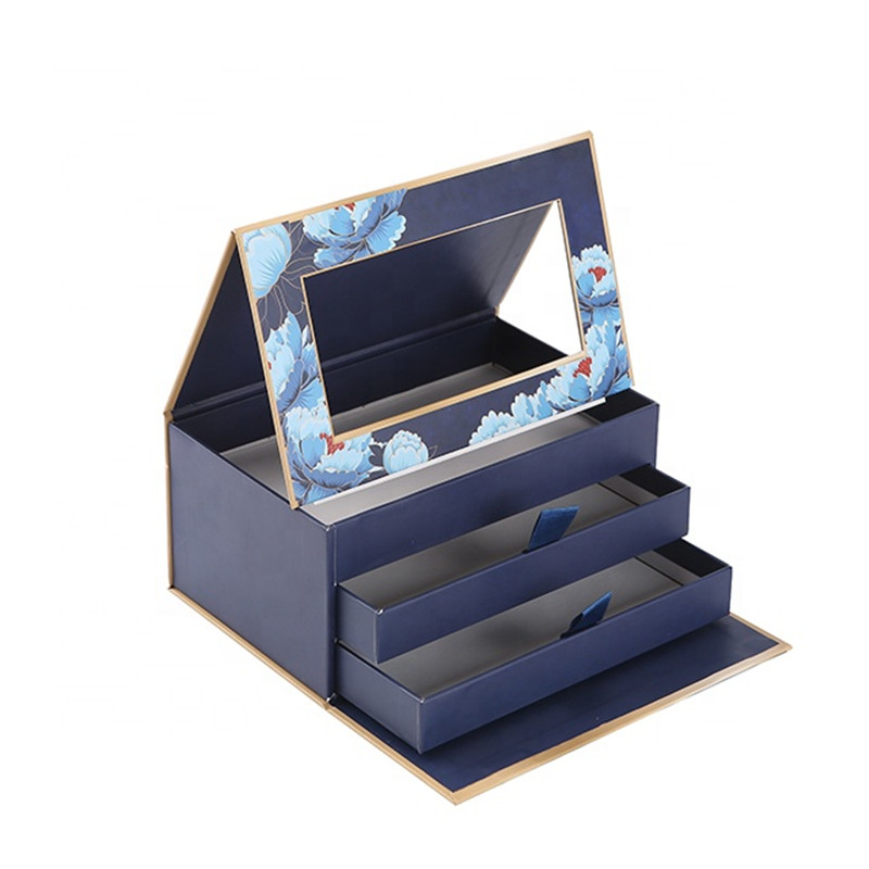 3 layers drawer storage paper gift box
