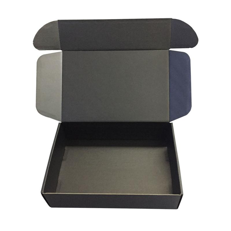 black corrugated paper folding packaging shoe box