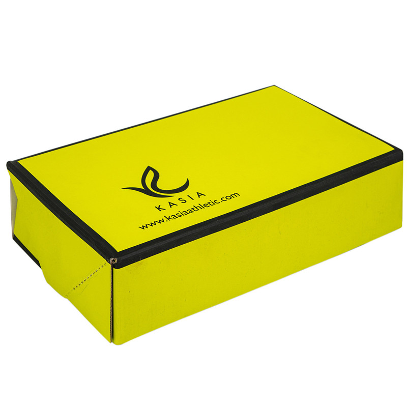 yellow corrugated packing strong paper box coner glued